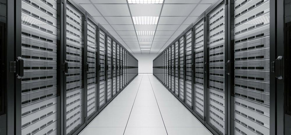 Salle de serveurs cloud