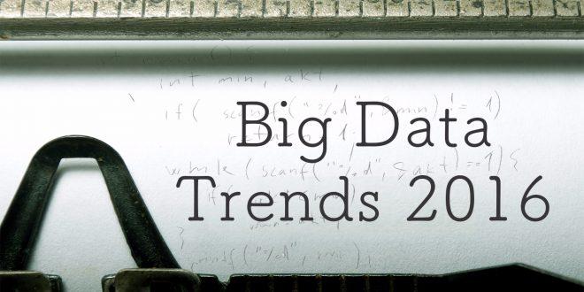 big data 2016 trends