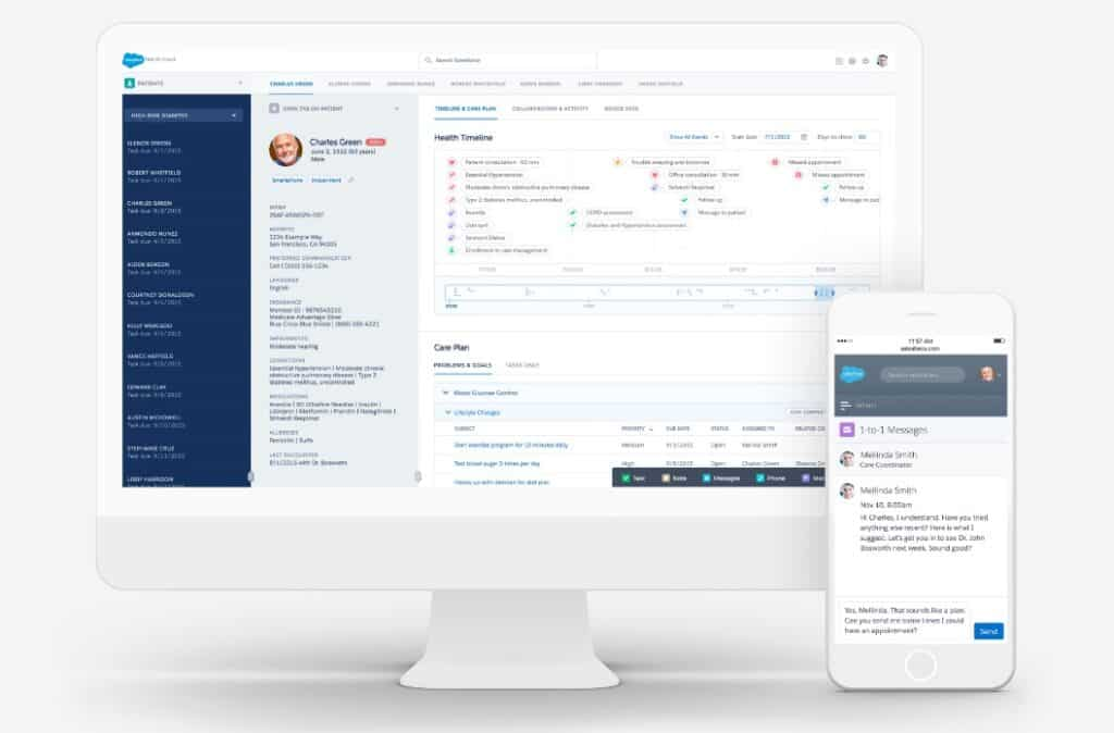 salesforce health cloud interface
