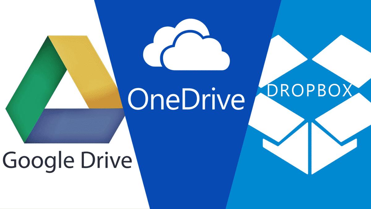 onedrive dropbox box google drive