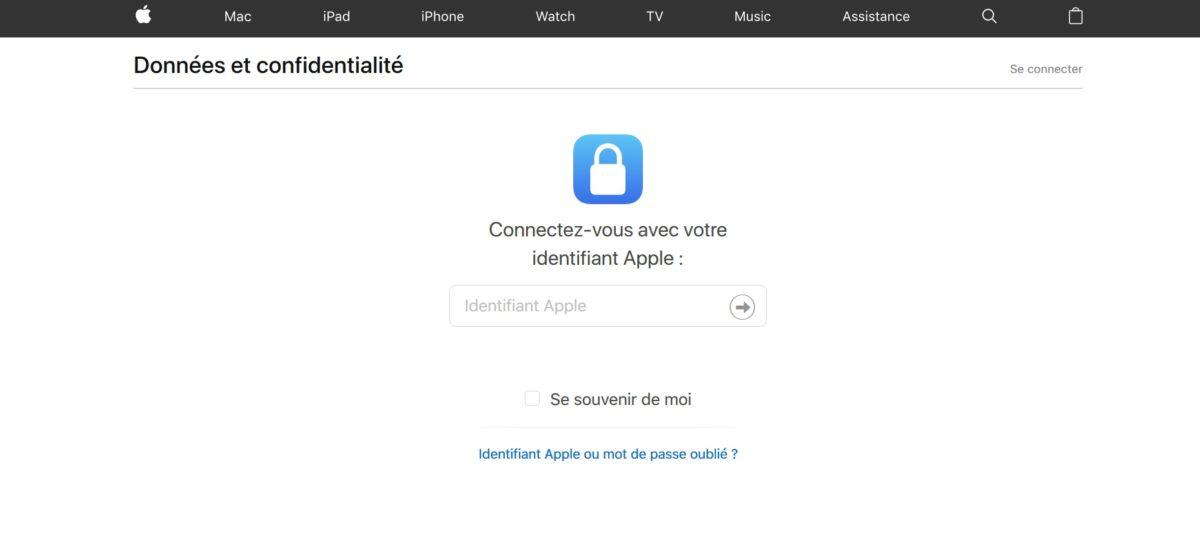 apple confidentialité