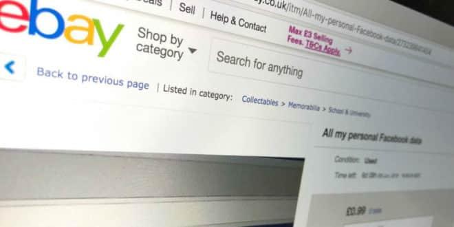 ebay données facebook
