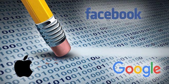 google facebook apple effacer données