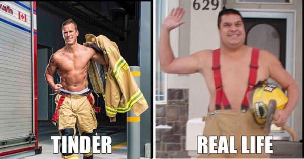 tinder vs réalité