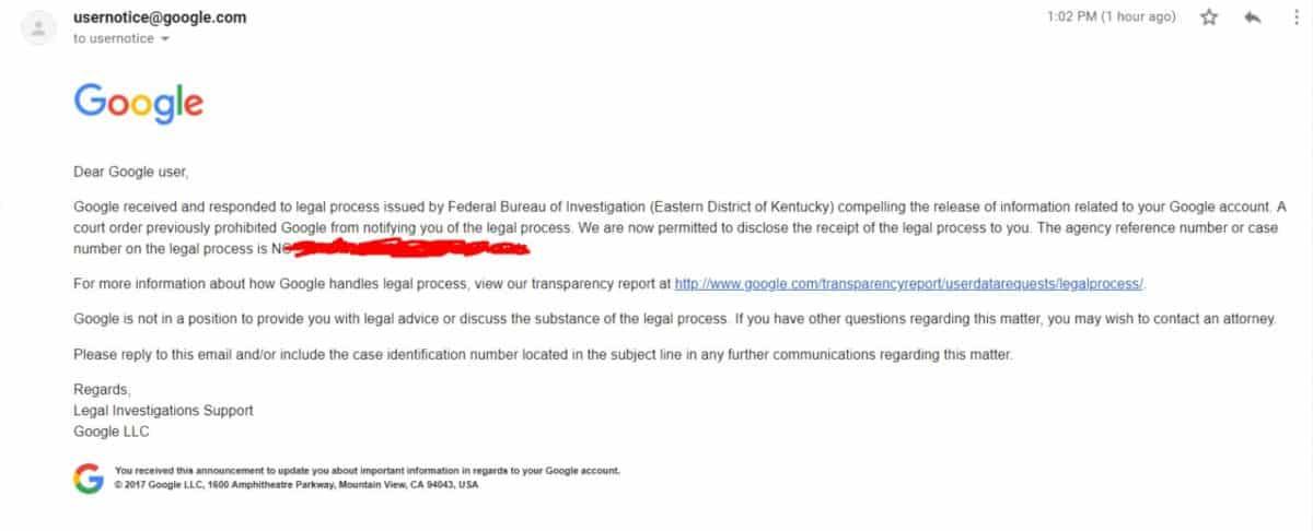 google mail fbi
