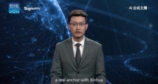intelligence artificielle chine présentateur tv