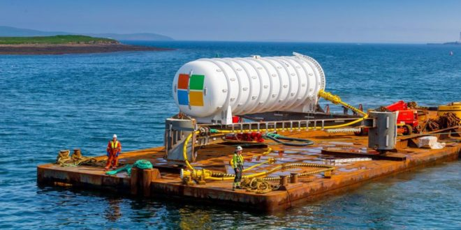 microsoft data center sous marin futur cloud computing