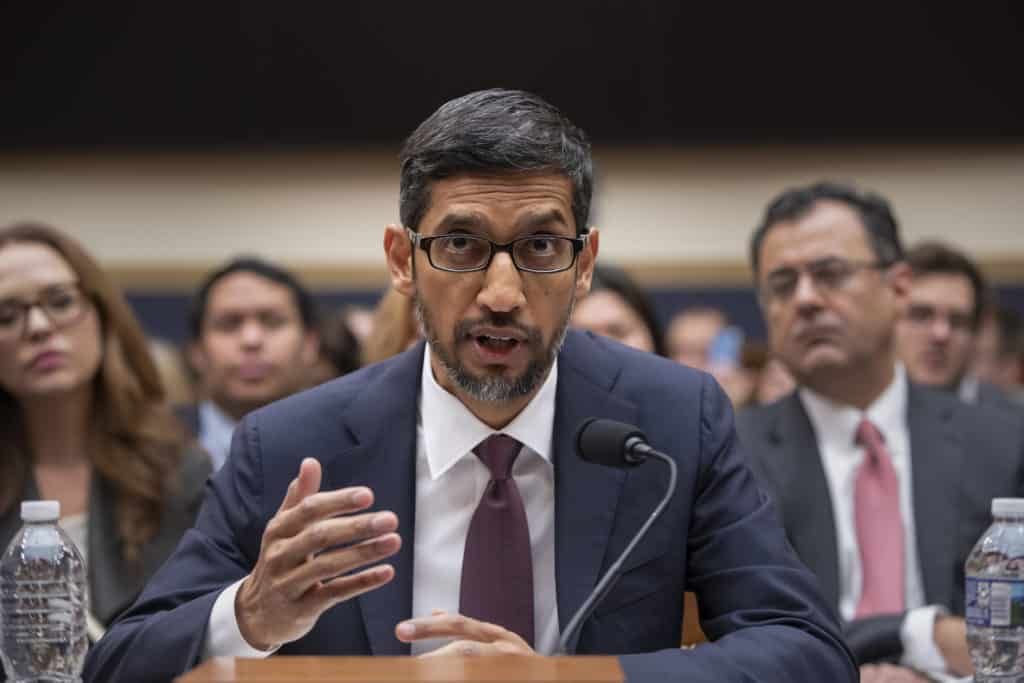 sundar pichai google ia auto regulation