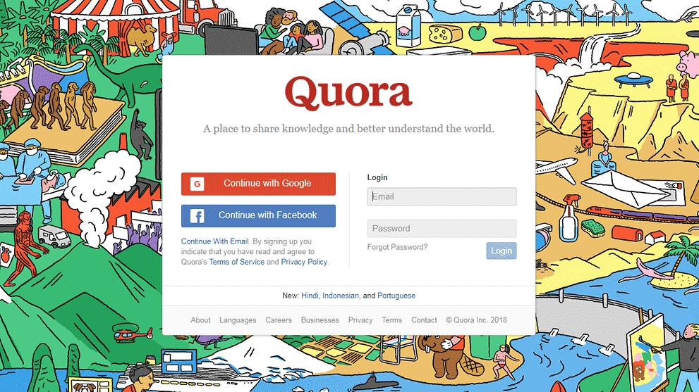 quora fuite données mot de passe