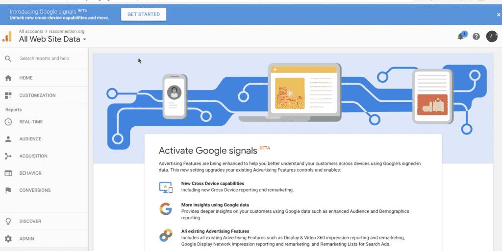 google signals fonctionnalités