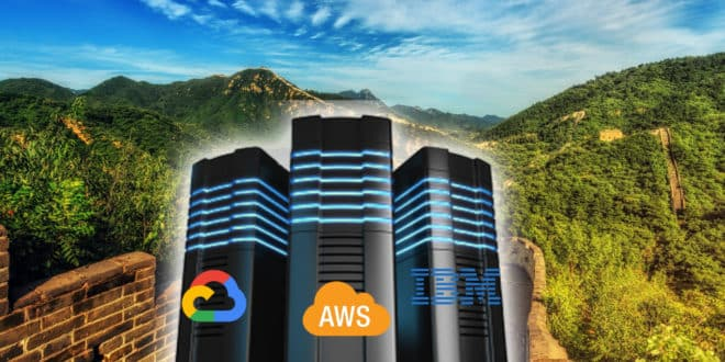 chine data centers cloud