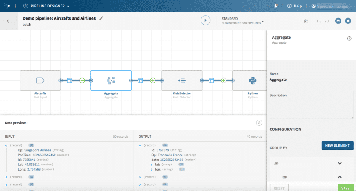talend pipeline designer preview