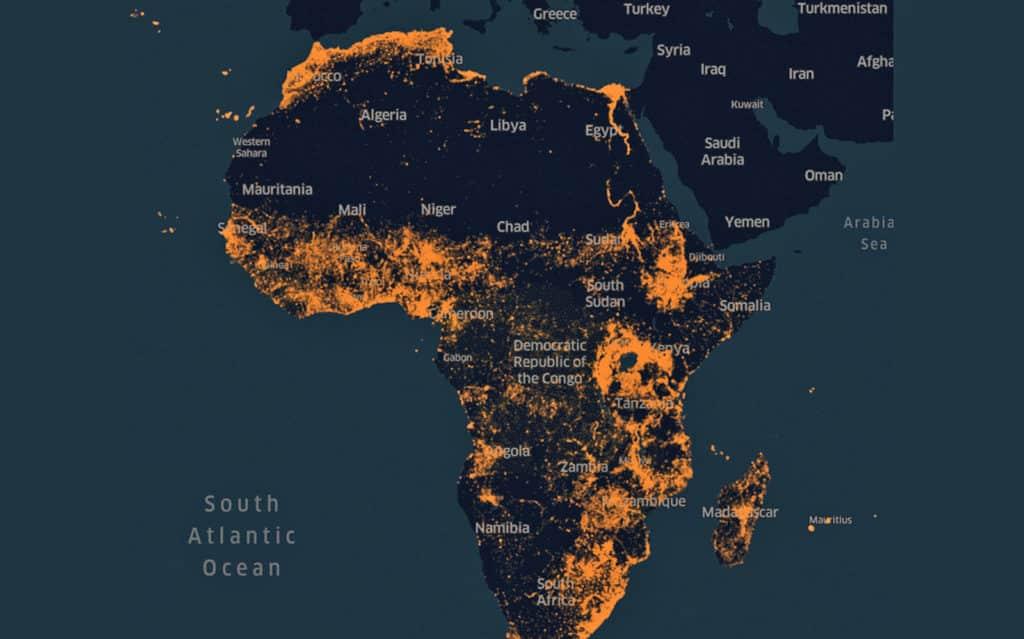 facebook carte afrique ia