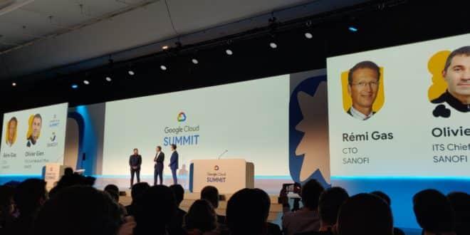 google cloud sanofi partenariat