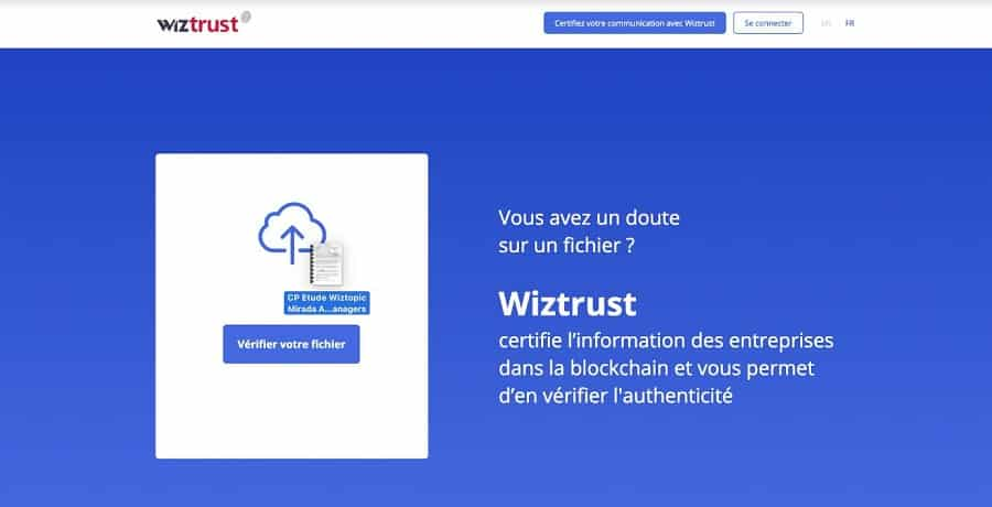 wiztrust plateforme verification