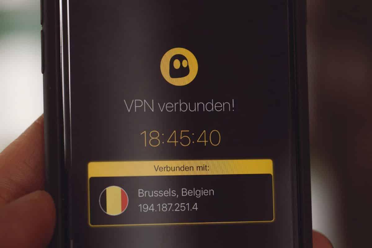 ghost vpn installé sur un téléphone