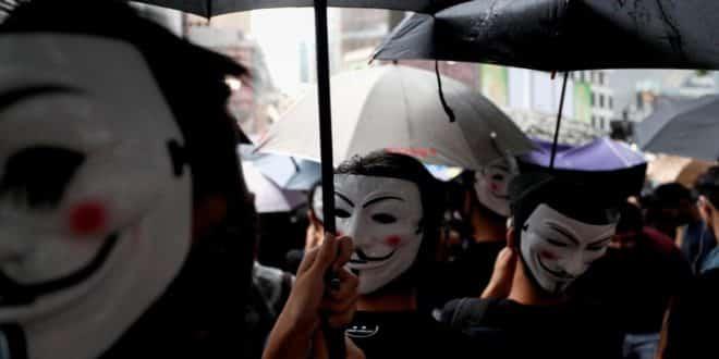 hong kong masques reconnaissance faciale
