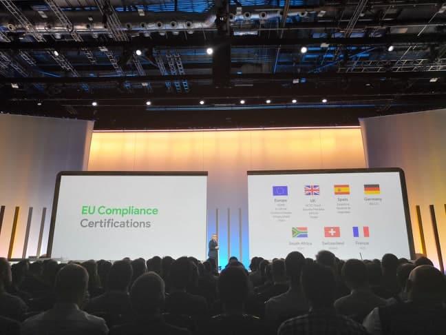 google cloud confidentialité données