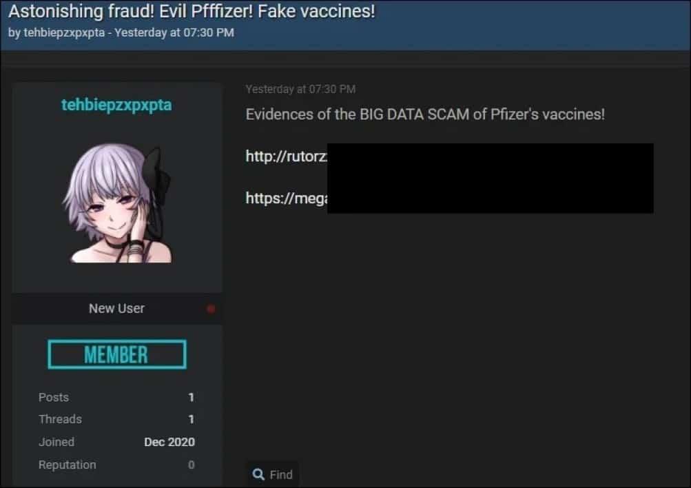 vaccin données pfizer